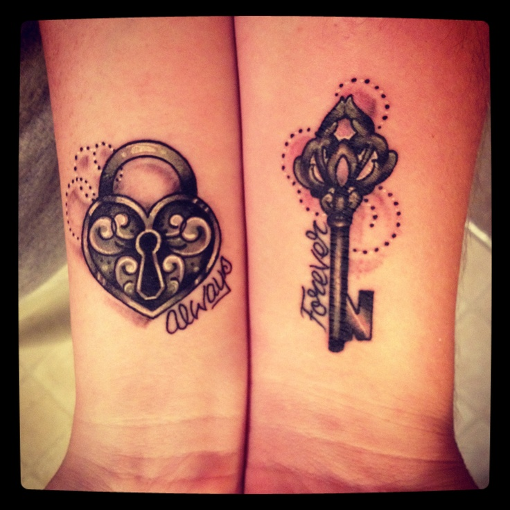 Key tattoos with words for girls